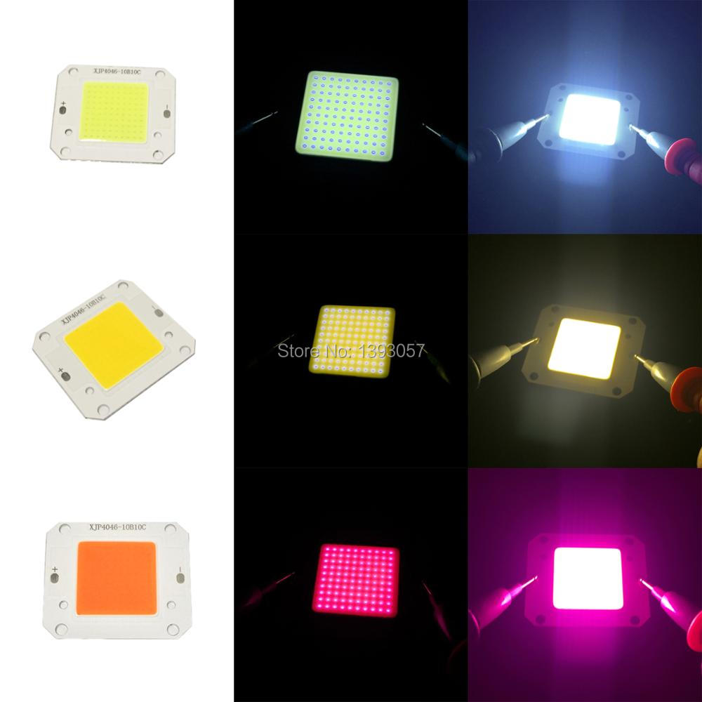 10pcs 50W High Power <font><b>LED</b></font> COB Chip Lights DC12V DC32V Light Source 400nm-840nm Full Spectrum Warm White Cold White 3000K-<font><b>30000K</b></font> image