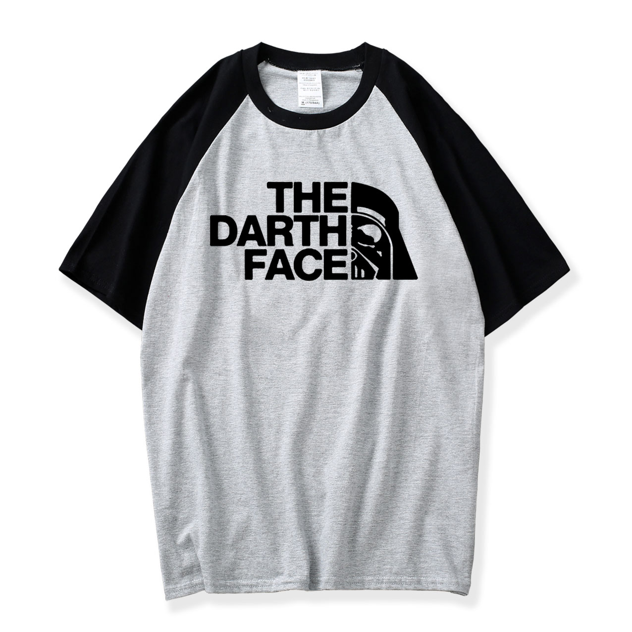 Star Wars The Darth Face Vader Men Raglan Tshit 2018 New Summer Raglan Black Gray White T Shirt 100% Cotton Hot Sale Mens Shirts