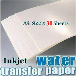 (30pcs/lot) Inkjet Water Slide Decal Paper A4 Size Transparent/Clear Color For Nail Art Candle Scratch-resistant and Persistent