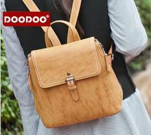 Оригинал doodoo брендов fr428 женщины рюкзак новые девушки малый кожа pu рюкзак школьный портфель дамы женщины мягкие опрятный стиль мешок