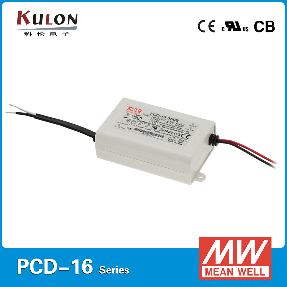 Original MEAN WELL 16W 350mA Mean well PCD-16-350A LED ACphase-cut dimmable meawell led driver 350mA коммутатор zyxel gs1100 16 gs1100 16 eu0101f