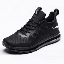Onemix High Top Men Air Running Shoes Shock Absorption Sports Sneaker Breathable Light for Outdoor Walking Jogging