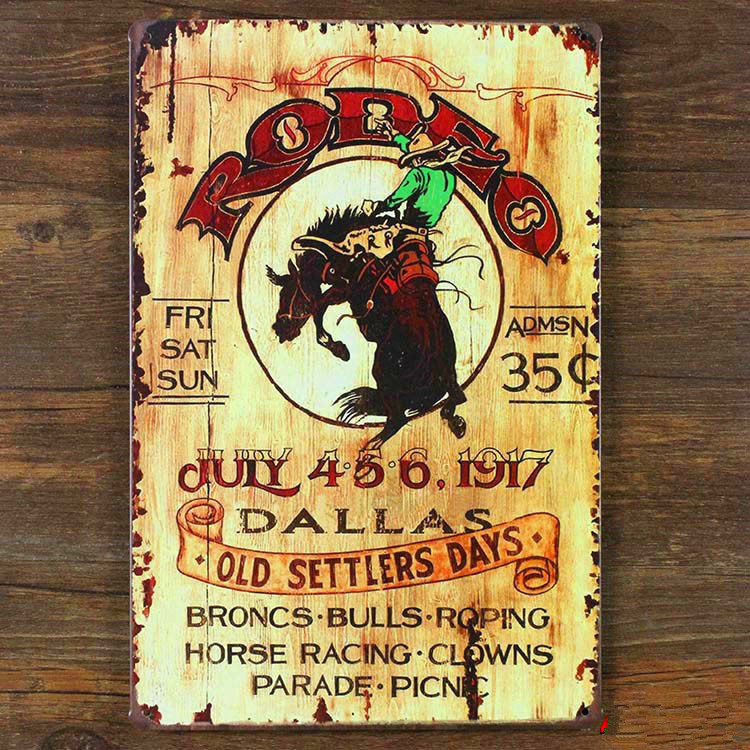 ᗛSP-QT-13 New arrival about old settlers day vintage metal tin ...