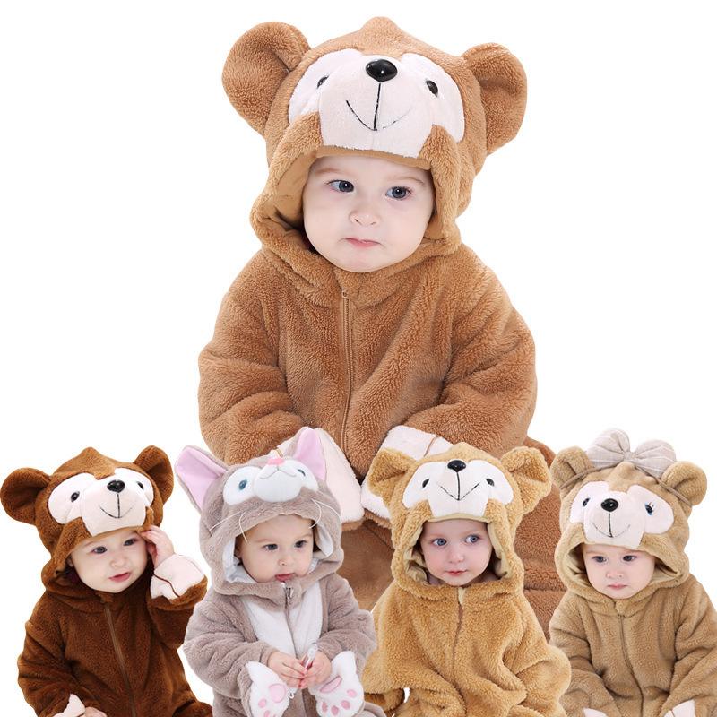 Baby Animal Jumpsuits Newborn Modeling Costume Walking   Romper   Winter Bear Series Boys Girls Body One-pieces Climb Suits Clothes