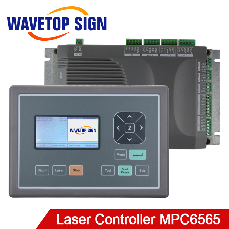 mpc6565 Laser machine control card MPC 6565 +LCD+usb cable +dongle Co2 Laser Controller laser cutter and laser engraving machine ruida rdc6442s laser machine control card co2 laser controller support 2heads use for laser cutter laser engraving machine