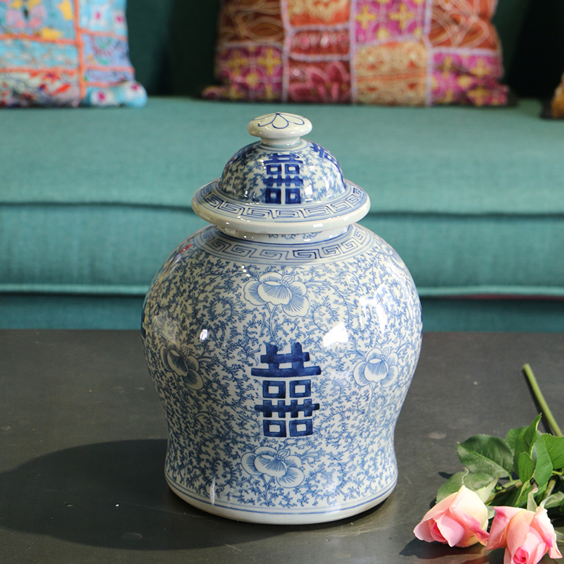 Retail Chinese Hand Painted Blue And White Ceramic Porcelain Jars - Home Decor - Photo 1