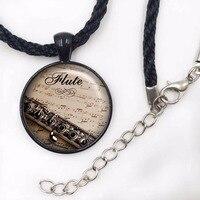 Flute necklace,flute pendant,music pendant flute player pendant music necklace Jewelry Gift For Men
