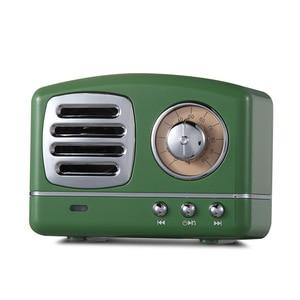Image 4 - Haut parleur radio Bluetooth nordique rétro Mini haut parleur Bluetooth sans fil Portable Radio USB/TF carte lecteur de musique Subwoofer decore