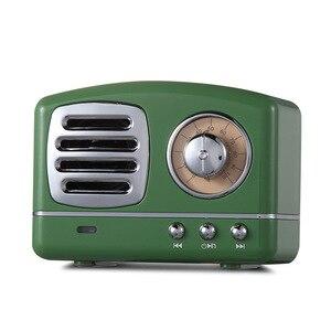 Image 4 - Iskandinav Bluetooth radyo hoparlör Retro Mini taşınabilir kablosuz Bluetooth hoparlör Radyo USB/TF Kart Müzik Çalar Subwoofer dekorasyonumuzu