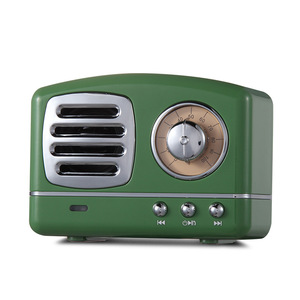 Image 4 - Nordic Bluetooth radio Speaker Retro Mini Portable Wireless Bluetooth Speaker Radio USB/TF Card Music Player Subwoofer decore