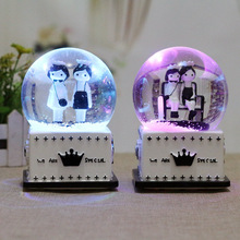 Valentine's Day Gift Crystal Ball Rotary Music Box Students Holiday New Gift