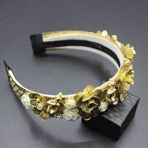 Image 3 - 2019 di Modo nuovo di lusso barocco passerella corte cerchio dei capelli splendida gemme dei capelli del cerchio dei capelli di Modo selvaggio di lusso di ballo di fascia 304