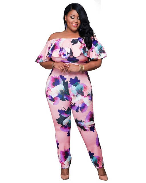 Plus size sexy jumpsuits