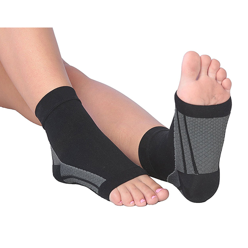 3pairs/lot Open Toe Medical Compression Socks Foot Sleeves Sports Sock Relief Heel Pain Plantar Fasciitis Pain Ankle care Socks