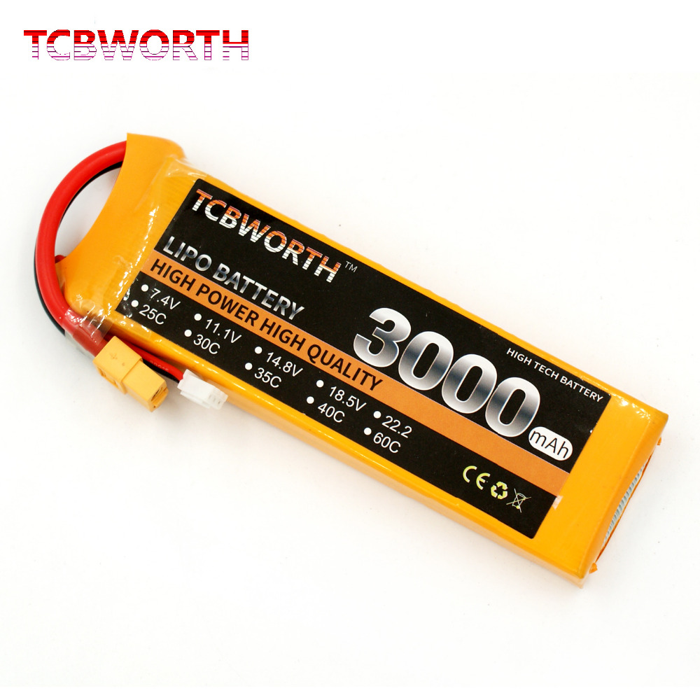 TCBWORTH RC Drone <font><b>LiPo</b></font> battery <font><b>2S</b></font> 7.4V <font><b>3000mAh</b></font> 30C For RC Airplane Quadrotor Helicopter Car Boat High power RC batteries <font><b>LiPo</b></font> image