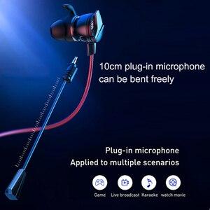 Image 2 - Baseus Gaming Earphone For Pubg Controller GAMO 15 3D Stereo earphones For Mobile pubg Gamer with Detachable HD Mic