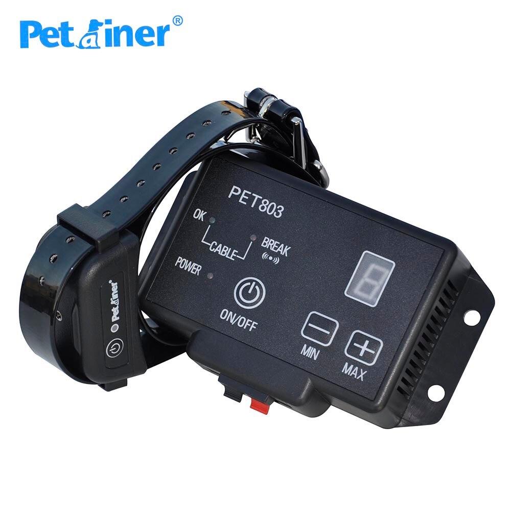 Petrainer 803 1 senza fili sistema di contenimento recinto collare di cane elettrico-in Collari da addestramento da Casa e giardino su  Gruppo 1