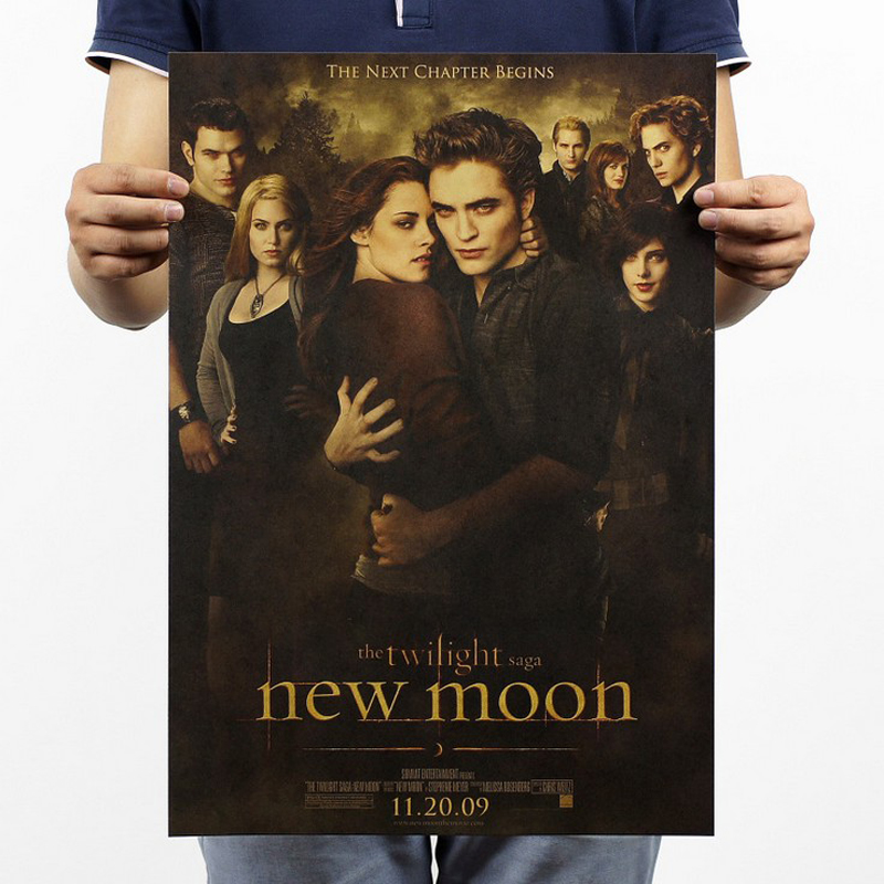 Free shipping,The twilight saga2/Kristen Stewart classic movie/kraft paper/bar poster/Retro Poster/decorative painting 51x35.5cm