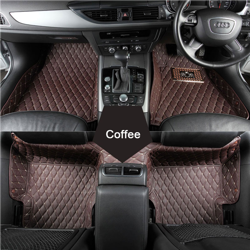 Custom fit car floor mats for Audi A1 A3 A4 A6 A7 A8 Q3 Q5 SQ5 Q7 TT TTS R8 RS5 RS6 RS7 3D Right hand drive car-styling