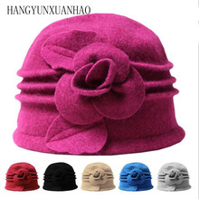 HANGYUNXUANHAO2019 New Female Wool Knitted Hats 2019 New Brand Stylish Winter Warm Beanie Women Painter Bonnet Hats For Girl
