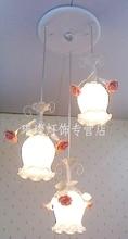 European-style lamp pendant lamps wrought iron farm garden Three head lamp droplight Bright pendant lights ZZP