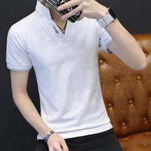 Venda quente Nova Marca de Moda Homens camisa Pólo Cor Sólida Curto-Luva  Slim Fit Camisa polo Dos Homens do Algodão Camisas Casu. 44cb769ccbe11