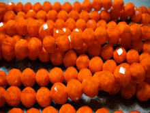 100Pcs Crystal Beads Faceted Opaque Orange Rondelles 6x4MM(China)