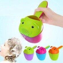 PP Пластик для маленьких детей милый кот Кубок шампунь красочные Ванна шапочка для душа для мытья головы черпак