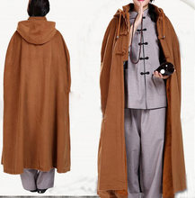 5color Winter buddhism abbotnun cape shaolin monks lay meditation cloak zen coat martial arts clothing buddhist wool suits(China)