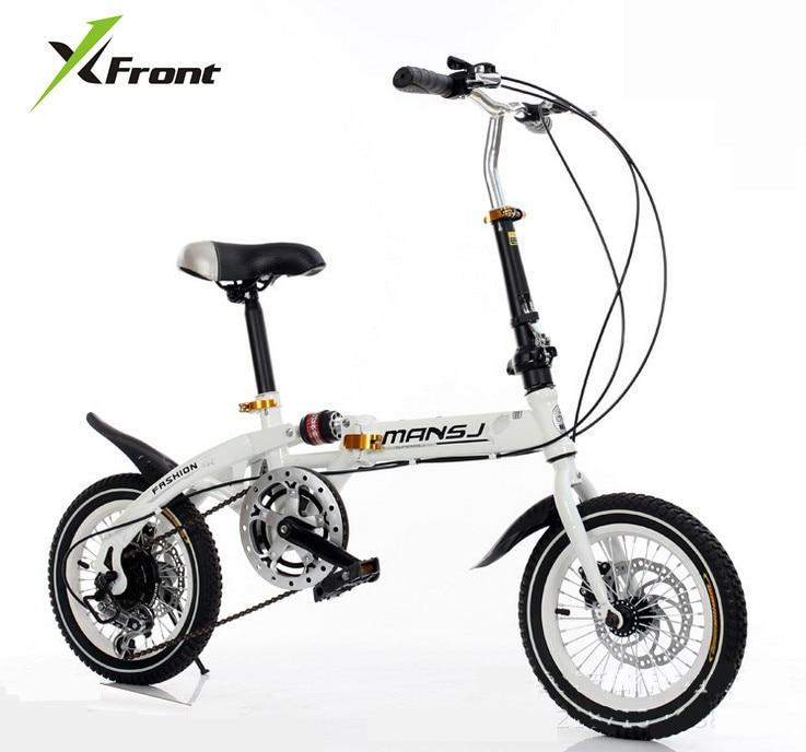 원래 X-Front 브랜드 미니 기어 휠 디스크 브레이크 댐핑 접는 자전거 어린이 bmx 레이디 자전거