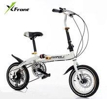 Оригинал X-Передняя Марка Мини зубчатых колес дисковые тормоза демпфирования складной велосипед bmx детей велосипед дамская