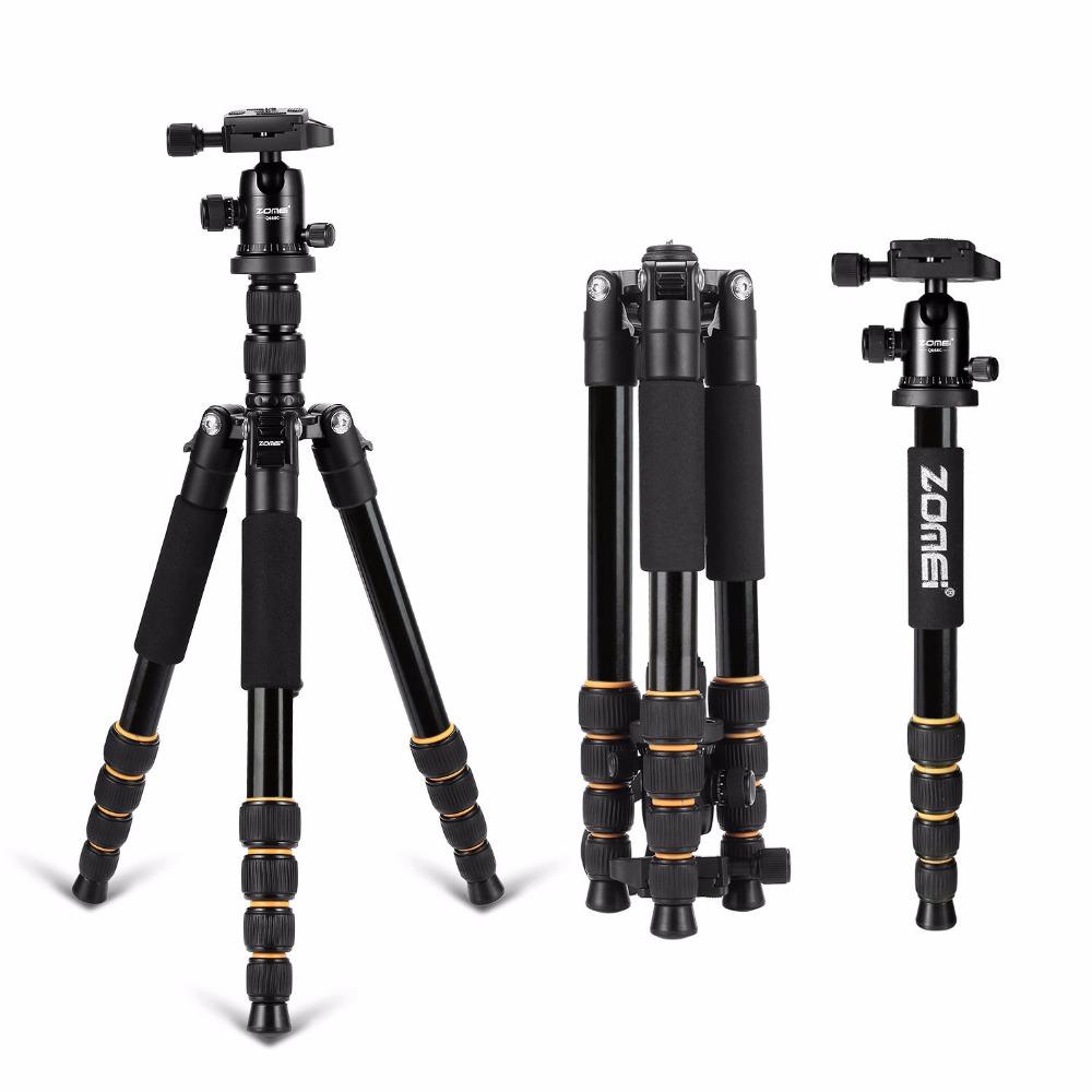Prix pour Zomei Q666 Trépied Léger Pour DSLR Caméra Rotule Manfrotto Trépied Compact Voyage Support de la Caméra Pour Canon Nikon Sony SLR
