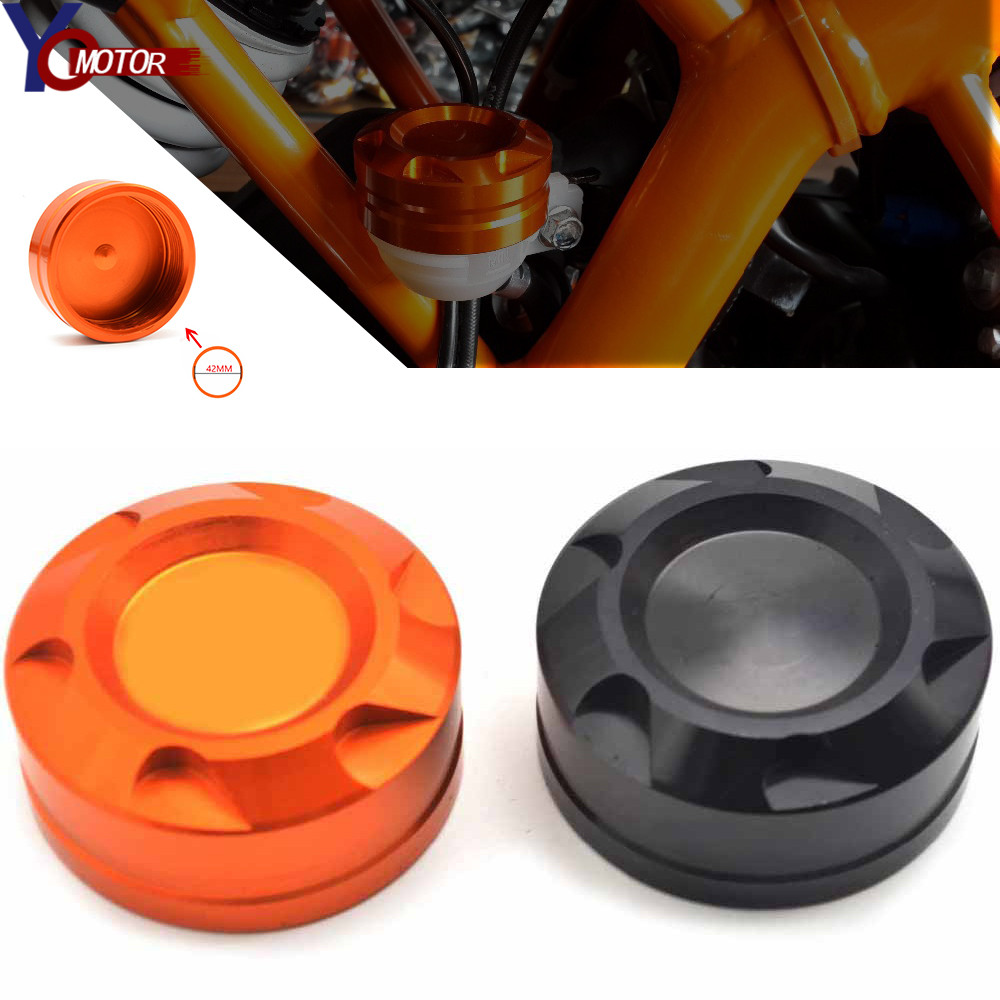 Motorcycle Engine Rear Fluid Reservoir Cap Cover For KTM DUKE 125 200 390 2013 2014 2015 2016 RC 125 200 390 2014 2015 2016 2017 image