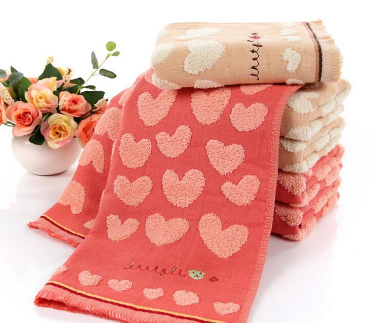 1 pcs 100% Cotton 35*70cm Hand Face Towel Absorbent soft Comfortable heart Towel heart towel face toweltowel absorb - AliExpress