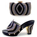 Hot Selling African Wedding Bride Shoes Matching Bag Set With Stones Wholesale African Shoes And Bag To Match TH16-61