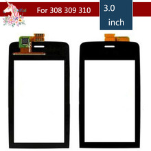 цена на 3.0 For Nokia Asha 308 309 310 3080 3090 LCD Touch Screen Digitizer Sensor Outer Glass Lens Panel Replacement