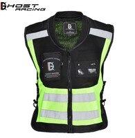 GHOST RACING Motorcycle Vest Motorbike Motocross Jacket Reflective Safety Motorbike Jacket Sleeveless Sports Racing Moto Vest