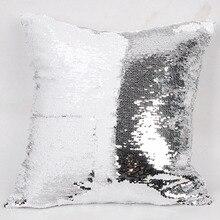 Sequin Cushion Cover Reversible Pillow Case DIY