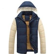 2016 Горячая продажа мужские зимние куртки мужские пух с капюшоном пальто верхней одежды мужской тонкий случайные хлопка верхняя одежда пуховик 119
