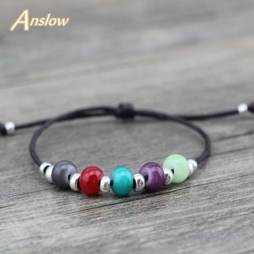 Anslow Cute Trendy Design Strand Armbånd Bijoux Læderrep Armbånd Par Venskab Armbånd Fødselsdag Gave LOW0495LB