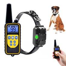 Электрический ошейник для собак 800 м ошейник для питомцев с дистанционным управлением ошейник для дрессировки собак водонепроницаемый перезаряжаемый с ЖК-дисплеем для всех размеров