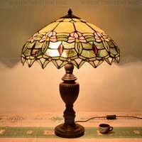 50CM American Pastoral Tiffany table lamp bar personalized decoration room dining shop lamp Bedside Lamp E27 110 240V