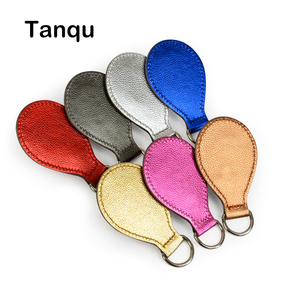 TANQU 2 Pair 4 Pc 7 Colors Shiny PU Drop Attachment For Obag Handle Strap Drop End For O Bag Obagsket Handbag Women Bag