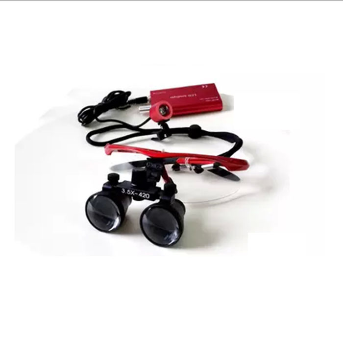 chargeable head lamp led headlight Dental magnifier Galileo surgical loupe optical antifog glasses surgeon doctor loupe
