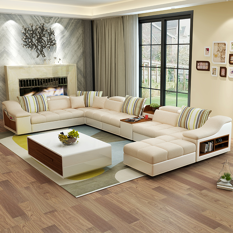 Stunning Salon Moderne Beige Contemporary