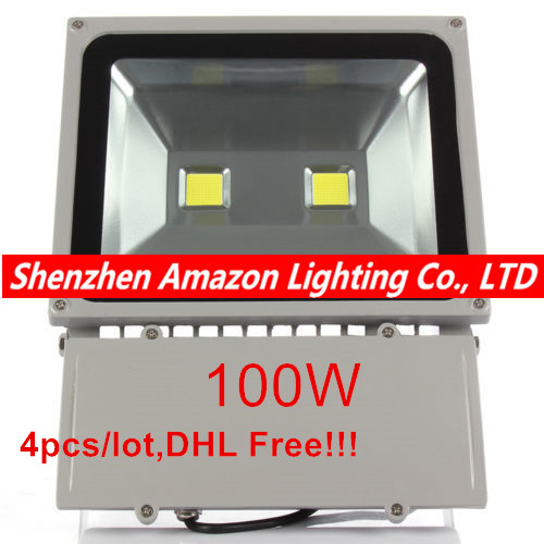 4X Waterproof IP65 100W High Power Led Floodlight Outdoor Led Flood light Energy Saving Lamp Warm White/Natural White/Cold White free shipping 8pcs lot cold white warm white 100w led flood light outdoor floodlight garden lamp water proof floodlight