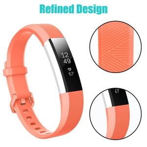 Image 3 - Baaletc ل Fitbit ألتا HR/ألتا سيليكون حزام الساعات استبدال المعصم الفرقة سيليكون حزام المشبك الذكية معصمه ساعة ل Fitbit