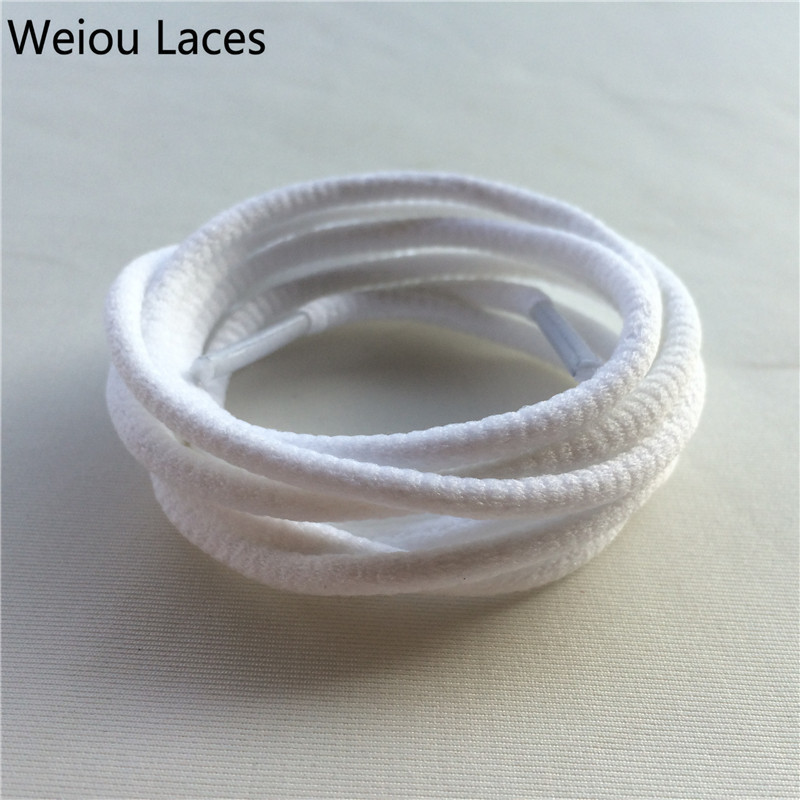 Weiou Round Rope Shoe Laces Polyester Groove Shoelaces Runner Shoestrings Sport Bootlace Sneakers boots Lacing With Plastic Tips