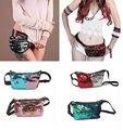 Women Clutch Dazzling Sequins Glitter Zipper Handbag Evening Bling Purse Bag