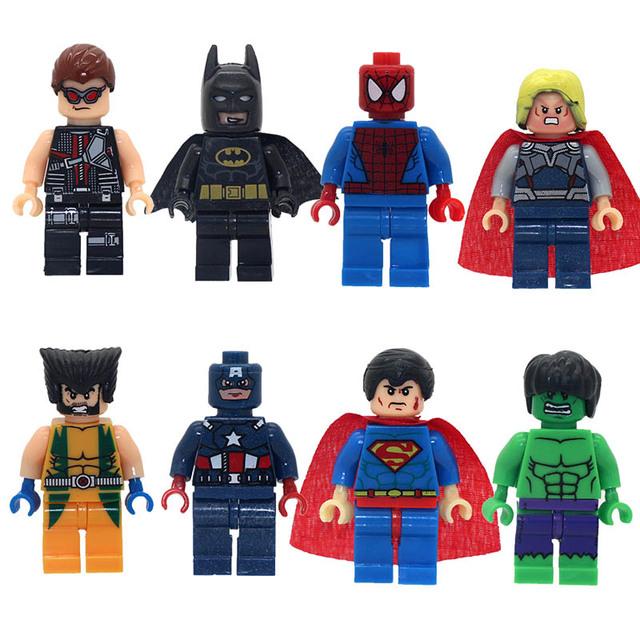 8 pcs Super Heroes mini Action Figures